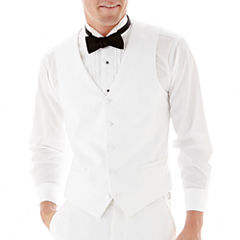 The Savile Row Company White Tuxedo Vest - Slim-Fit