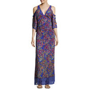 nicole by Nicole Miller® Cold-Shoulder Bohemian Maxi Dress