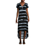 By Artisan Short-Sleeve Knit Maxi Dress