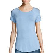 i jeans by Buffalo Short-Sleeve Cutout Tee