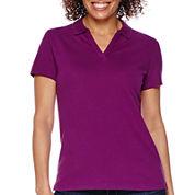 St. John's Bay® Short-Sleeve Piqué Polo Shirt - Petite