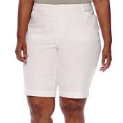 St. John's Bay® Twill Bermuda Shorts - Plus