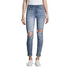 Indigo Rein Skinny Fit Cropped Jeans-Juniors