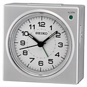 Seiko® Silver-Tone Bedside Beep Alarm Clock with Snooze Qhe086slh