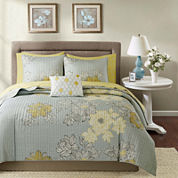 Madison Park Morrisson Coverlet Complete Bedding Set with Sheets