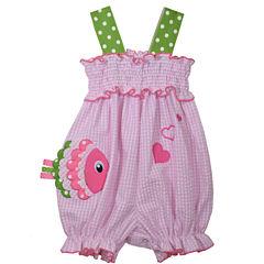 Bonnie Jean Sleeveless Smocked Bubble Romber Dress - Baby Girls