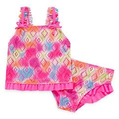 Laguna Girls Pattern Tankini Set - Toddler