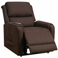 Home Meridian Heat And Massage Lift Pad-Arm Recliner
