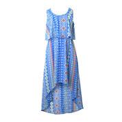 Pinky High-Low Print Maxi Dress - Girls 7-12