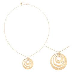 Liz Claiborne® Long Hammered Gold-Tone Pendant Necklace