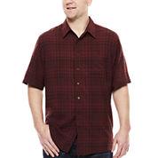 Haggar® Short-Sleeve Woven Shirt - Big & Tall