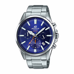 Casio Edifice Mens Silver Tone Bracelet Watch-Efv510d-2av