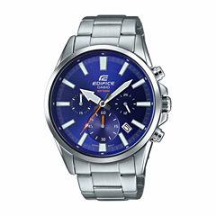 Casio Edifice Mens Silver Tone Bracelet Watch-Efv510d-2av