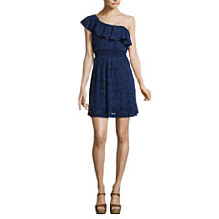 Love Reigns Sleeveless Skater Dress-Juniors
