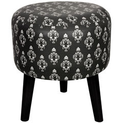 Oriental Furniture Damask Footstool
