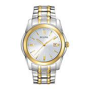 Bulova® Mens Two-Tone Stainless Steel Watch 98H18