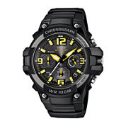 Casio® Mens Black Resin Strap Chronograph Sport Watch MCW100H-9AVCF