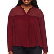 Decree® Long-Sleeve Femme Blouse - Plus