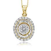 1/2 CT. T.W. Diamond 10K Yellow Gold Pendant