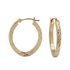 Diamond-Cut 14K Gold 18mm Hoop Earrings