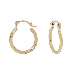 Girls 14K Yellow Gold Polished Hoop Earrings