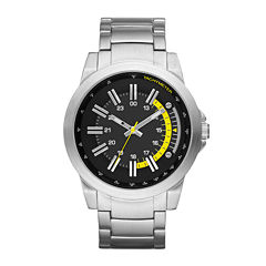 Mens Luminous Hand Round Case Watch