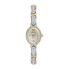 Bulova® Womens Crystal Accent Bracelet Watch 98L005