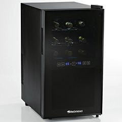 Wine Enthusiast® 18-Bottle Silent Dual Zone Touchscreen Wine Refrigerator