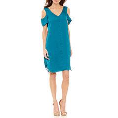 Nicole By Nicole Miller Short Sleeve A-Line Dress