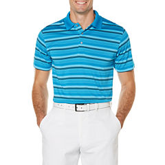 PGA Tour Short Sleeve Stripe Jersey Polo Shirt Big and Tall