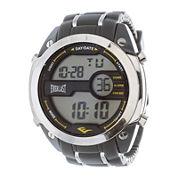 Everlast® Mens Gray Silicone Strap Watch
