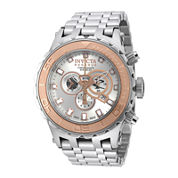 Invicta® Subaqua Reserve Mens Silver-Tone Dial Stainless Steel Chronograph Watch 14034