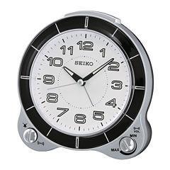 Seiko® Bedside Alarm with Snooze Clock Qhk031slh