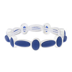 Liz Claiborne® Blue and Silver-Tone Stretch Bracelet