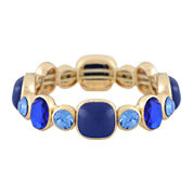 Monet® Blue and Gold-Tone Stretch Bracelet