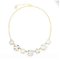 Monet® Crystal Gold-Tone Collar Necklace
