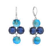 Monet® Blue Glass Silver-Tone Chandelier Earrings