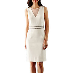 Scarlett Sleeveless Embellished Sheath Dress