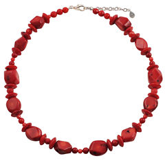 Artsmith By Barse Red Bronze Beaded Necklace