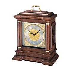 Seiko® Dual Chime Wooden Mantel Clock Brown Qxj004blh