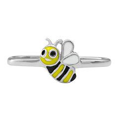Hallmark Kids Sterling Silver Enamel Bee Ring