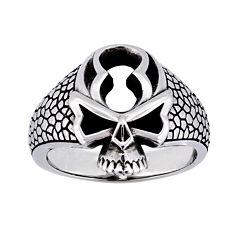 Mens Stainless Steel Skull Ring