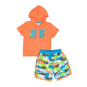 Wippette 2-pc. Shark Swim Trunk Set - Baby Boys newborn-24m