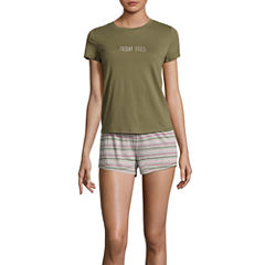 Flirtitude Shorts Pajama Set-Juniors