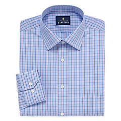 Stafford Travel Easy-Care Broadcloth - Big & Tall Long Sleeve Dress Shirt