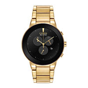 Citizen® Eco-Drive® Axiom Mens Gold-Tone Chronograph Watch AT2242-55E