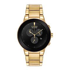 Citizen® Eco-Drive® Axiom Mens Gold-Tone Chronograph Watch AT2242-55E