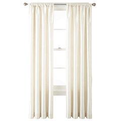 Liz Claiborne® Gallery Taffeta Rod-Pocket Curtain Panel