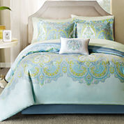Madison Park Carly 7-pc. Twin Complete Bedding Set with Sheets