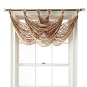 Royal Velvet® Frasier Tab-Top Sheer Waterfall Valance
